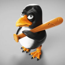 Angry pinguin
