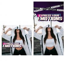 Рекламный баннер для магазина одежды в Инстаграм
