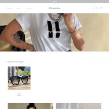 Shopify магазин одежды Mikaanika
