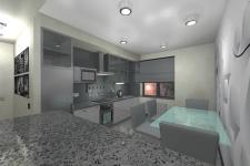 Гостиная студио в частном доме