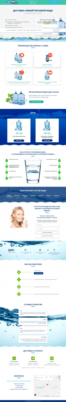 Лендинг Здорова Вода
