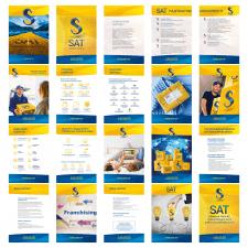 дизайн презентации/брошюры компании SAT