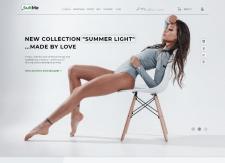 Дизайн сайта интернет магазина одежды