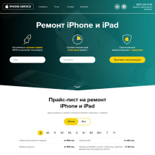 "Landing Page ""Iphone-Service"""