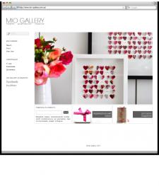 Разработка сайта для галереи дизайнерских подарков «Mio Gallery»