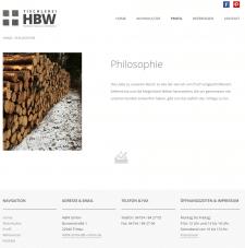 Сайт мебельной компании HBW