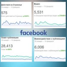 SMM Facebook рост показателей за месяц работы