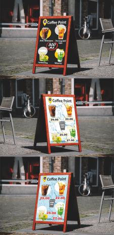 Штендер для кофейни