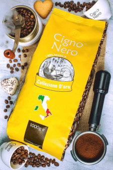 Редизайн упаковок кофе торговой марки Cigno Nero