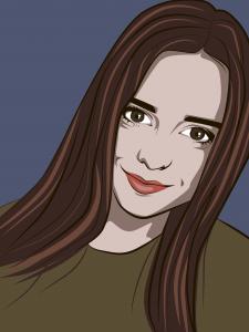 Портрет в стиле поп-арт в векторе