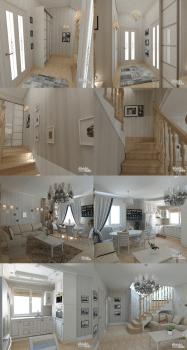 Дизайн квартиры французский городской