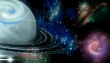 Иллюстрация космоса сделанная в Adobe Photoshop