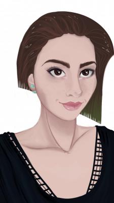 цифровой стилизованный портрет