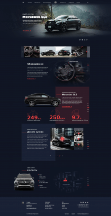 Landing page for Mercedes GLE