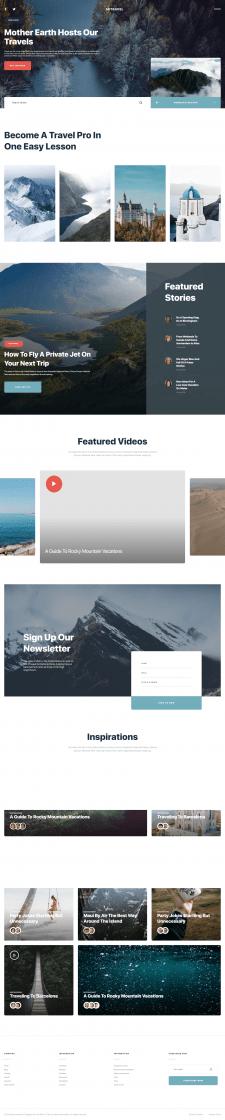 Адаптивная верстка сайта о путешествиях - Metravel