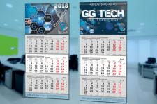 """Дизайн календарей """"GG Tech"""""""