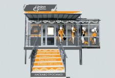 Дизайн вывески,оформления фасада магазина одежды.