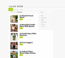 Наполнение сайта Glam is Here