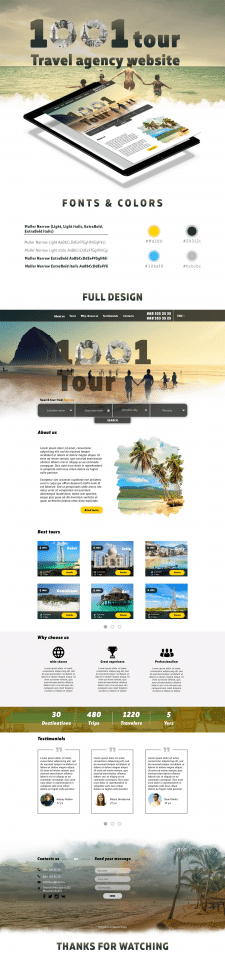 Landing page - Travel Agency