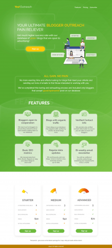 landing page bootstrap 4 + jquery