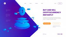 Баннер сайта на тему криптовалют
