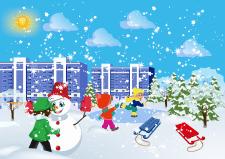 Иллюстрация - Снеговик