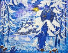 """Картина """"Шепот зимнего леса"""""""