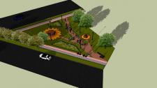 Создание 3Д-модели сквера в г. Чернигов