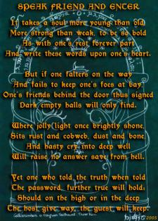 Стихи на английском по мотивам мира Толкина