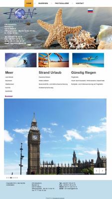 Сайт туристической фирмы ION