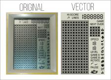 Отрисовка в вектор по фото экрана тетриса