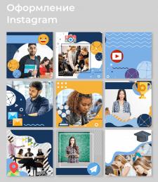 Концепция страницы Instagram для университета