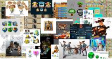 Персонажи, иконки, лого, UI, локации, концепты...