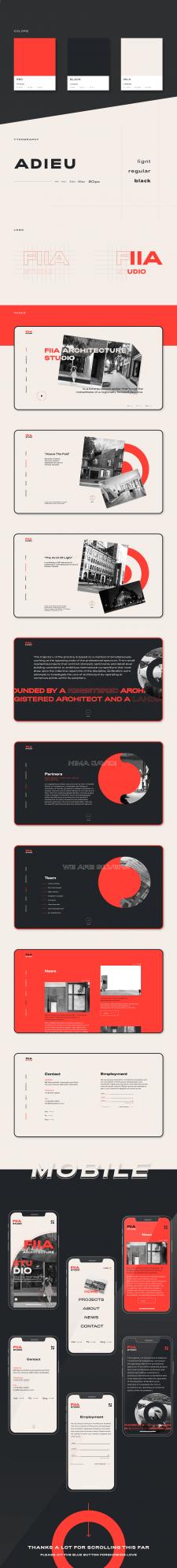 Разработка сайта для архитектурной студии