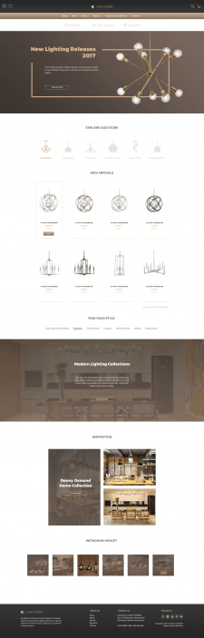Lighting shop concept/Main page