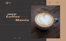 First screen of the site (concept) for Coffee hous