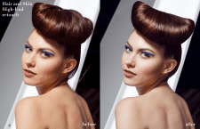 High-End ретушь волос и кожи