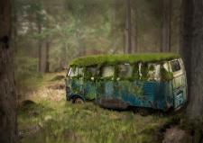 Арт заброшенного автобуса