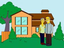 Иллюстрация в стиле мультсериала Симпсоны