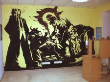"""Роспись стены для компании """"uCoz"""""""