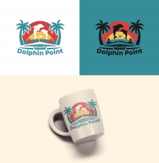 Logo for new waterfront mansion Dolphin Point.