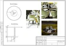 Схематический чертеж стола
