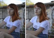 Обработка портретной фотографии девушки