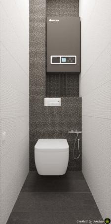 Визуализация туалета в панельном доме.