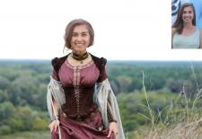 Монтаж. Девушка эпохи средневековья