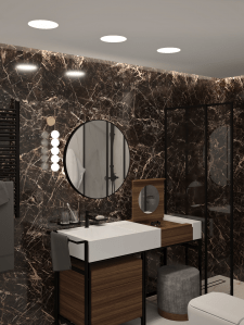 Визуализации ванной комнаты.