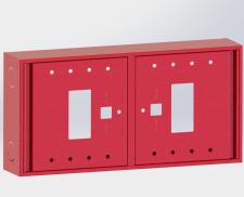 Металлический пожарный шкаф