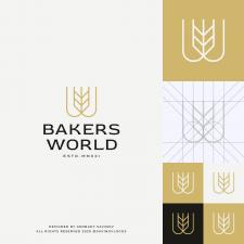 Wheat W Letter Logo