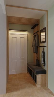 Дизайн коридора с гостиной
