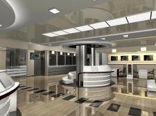 Зал для посетителей в банке